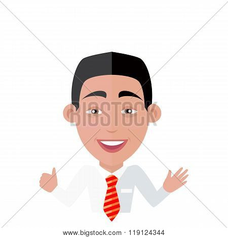 Emotion Avatar Man Happy Success