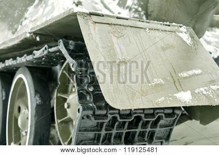 Tank Tracks Closeup