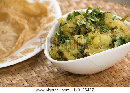 Aloogadde Eeruli Palya Or Aloo Onion Subzi From Karnataka, India