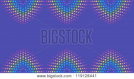 Abstract Rainbow Element Background Consisting Of Colored Square