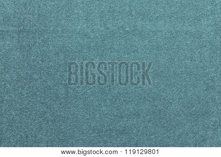 Speckled Textured Background From Fabric Of Pale Turquoise Color