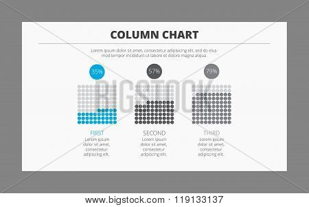 Column chart with percent signs