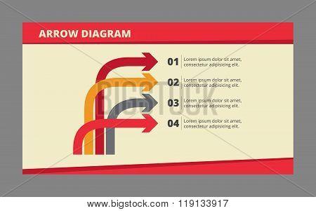 Four Arrow Diagram Template