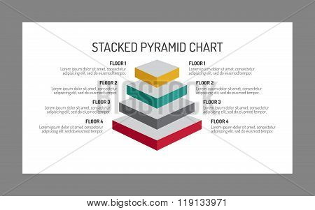 Four Level Pyramid Chart Template