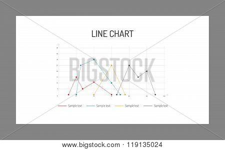 Line chart template