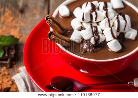 Red Cup Of Hot Chocolate
