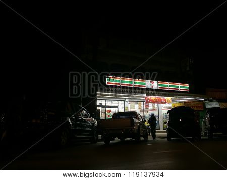 Chiang Rai, Thailand - February 1 : Seven-eleven Or 7-eleven, The Largest Convenience Store Chain In