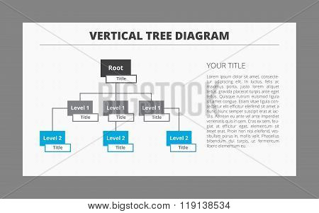 Two Level Tree Diagram Template
