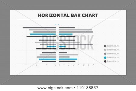 Two-sided Horizontal Bar Chart Template