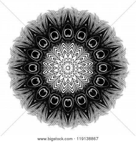 Mandala Round Ethnic Pattern Vector