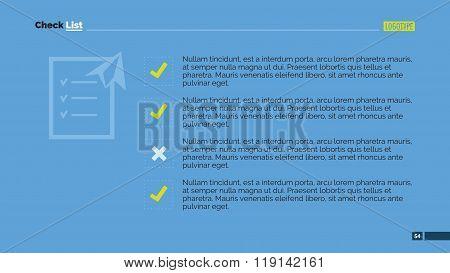 Check List Slide