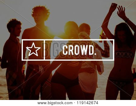 Crowd Congested Flock Unstructured Mob Chaos Concept