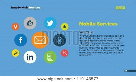 Smartwatch services slide template 2
