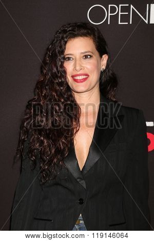LOS ANGELES - FEB 16:  Angie Cepeda at the Triple 9 Premiere at the Regal 14 Theaters on February 16, 2016 in Los Angeles, CA