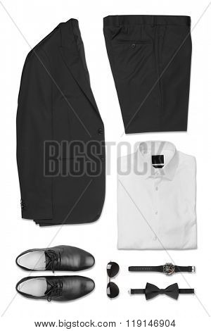Set of Business Clothes isolated on white background