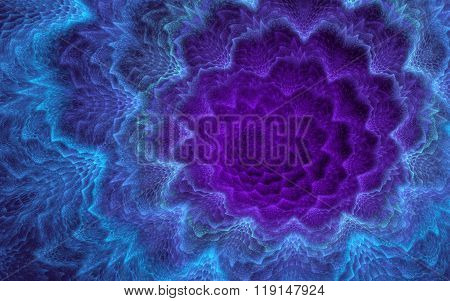 Violet-blue Fuzzy Background