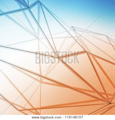 Photo of highly detailed multicolor line background. Art background, square. 3d render