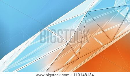 Concept of highly detailed multicolor line background. Art background, horizontal. 3d render