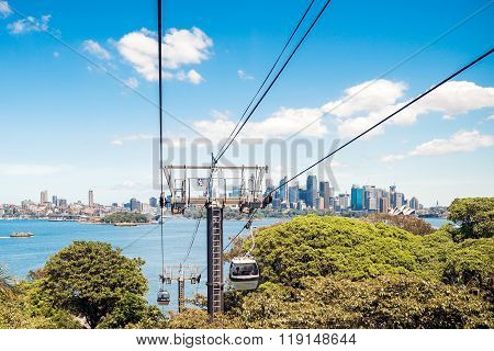 Funiculars Above Taronga Zoo