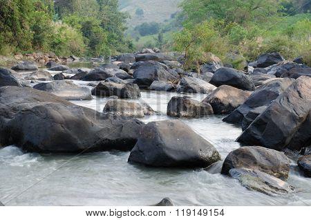 Streamlet In Rain forest ,thailand