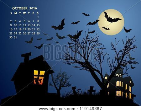 October Calendar - Halloween 2016
