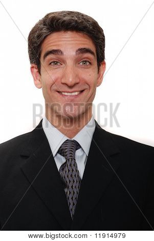 Businessman with happy facial expression