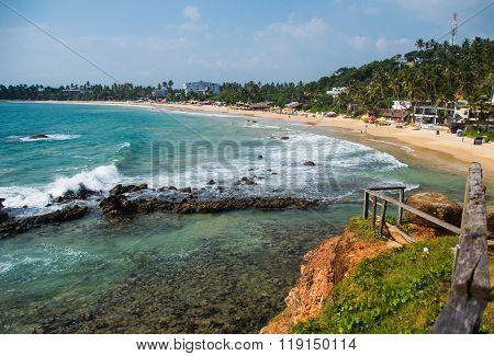 Tropical coastline from observation deck