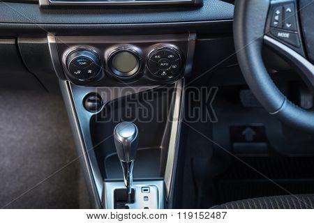 Detail Of New Modern Car Interior
