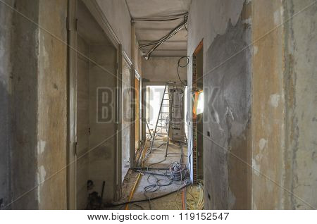 Building Site For Flat Refurbishment