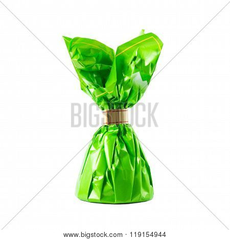 Candy in green wrapper