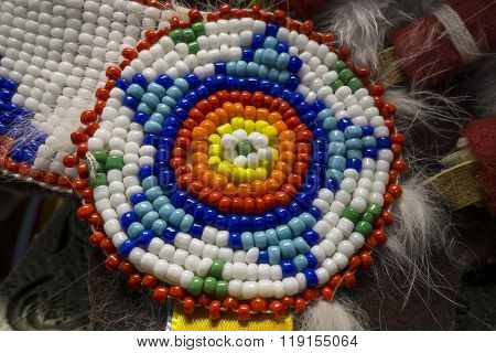 Native American Indian Beads Detail