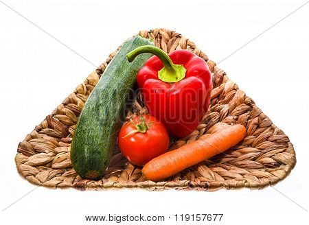 Group Of Vegetables Isolated On White