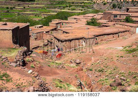 Berber Village In Atlas Mountains,morocco