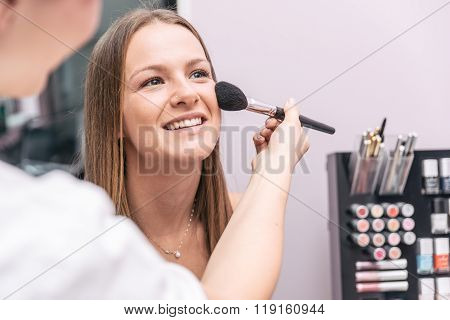 Woman Making Beauty Treatment In A Saloon