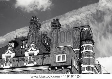 Old House With Tall Chimneys