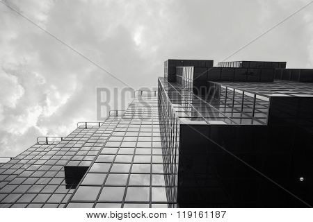 Extreme Perspective View Of Angles On Building