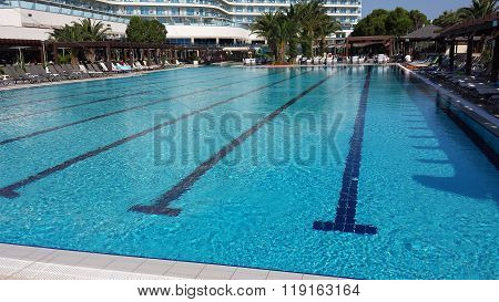 The pool at exotic resort