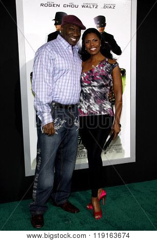 Omarosa Manigault and Michael Clarke Duncan at the Los Angeles Premiere of