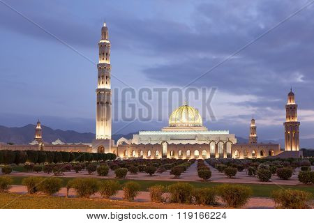Sultan Qaboos Grand Mosque In Muscat, Oman