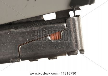 Close-up Of An Old Rusty Vintage Stapler