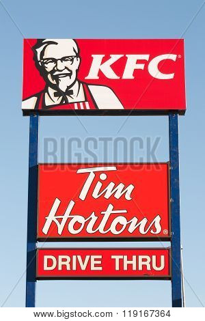 Kfc And Tim Hortons Sign