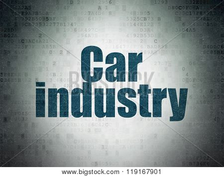 Manufacuring concept: Car Industry on Digital Paper background