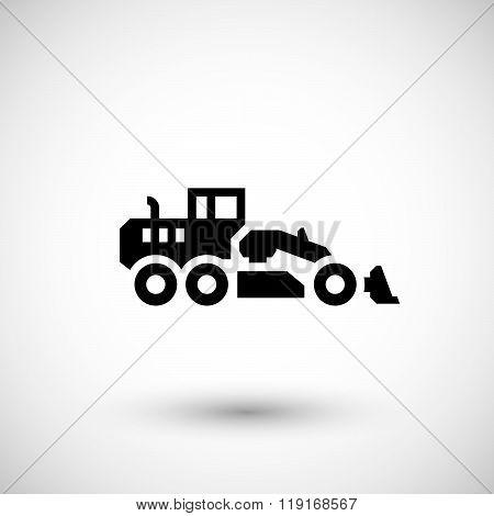 Road grader icon