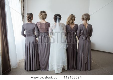The Bride With Her Friends.