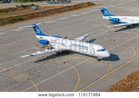 Passenger planes in Podgorica
