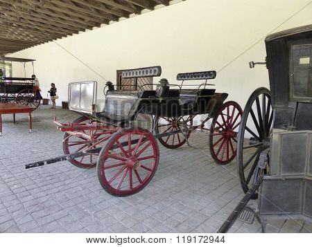 Old Coaches In Winery Vina Undurraga In Talagante
