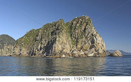 Dramatic Cliffs On A Ocean Coast