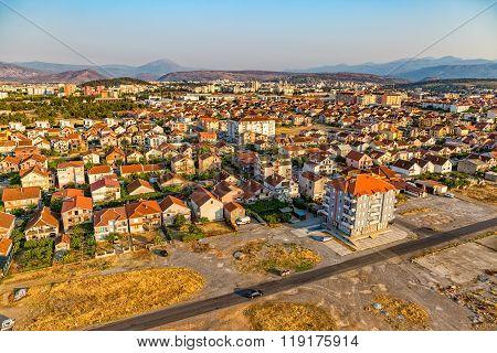 Podgorica aerial view