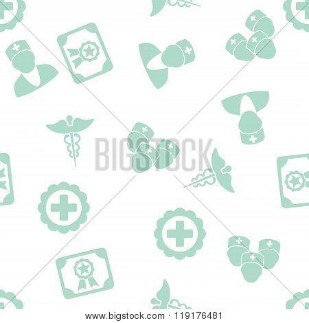 Doctor Diploma Seamless Seamless Flat Glyph Pattern