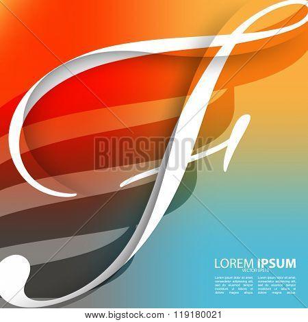 letter F fashion concept background